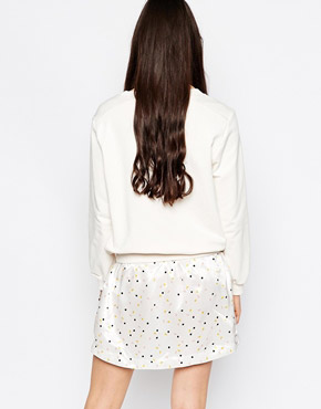 photo Drop Hem Dress In Lightbulb Print by See by Chloe, color White - Image 2