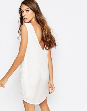 photo Beaded and Embroidered Shift Dress by See U Soon, color Off White - Image 2