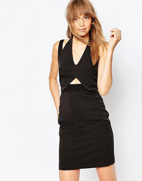 photo Cubic Double Strap Dress by Suboo, color Black - Image 1