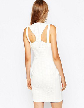 photo Lasercut Zip Front Dress by Suboo, color White - Image 2