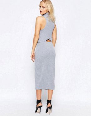 photo White Light Dress In Grey by The Fifth, color Grey Marble - Image 2