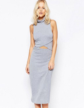 photo White Light Dress In Grey by The Fifth, color Grey Marble - Image 1