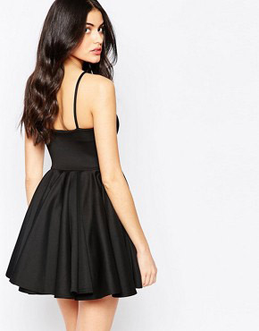 photo Skater Dress with Keyhole Detail by Twin Sister, color Black - Image 2