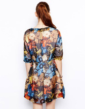 photo Babel Silk Dress by Wood Wood, color Floral - Image 2