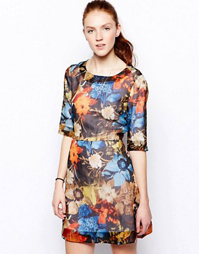 photo Babel Silk Dress by Wood Wood, color Floral - Image 1