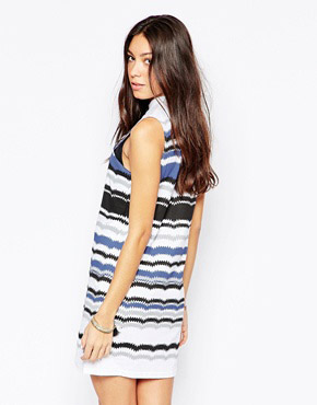 photo Sleeveless Striped Bodycon Dress by Your Eyes Lie, color Multi - Image 2