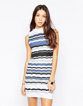 photo Sleeveless Striped Bodycon Dress by Your Eyes Lie, color Multi - Image 1