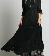 photo Bohemia Floral Embroidery Flounce Sleeve Dress by OASAP - Image 3