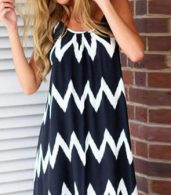 photo Bold Contrast Chevron Print Mini Dress by OASAP, color Black - Image 6