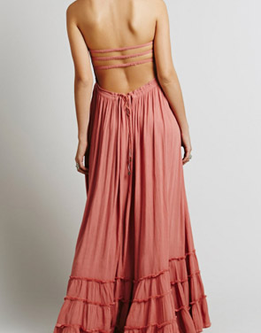 photo Casual Solid Halter Backless Maxi Dress by OASAP - Image 2