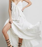 photo Casual Solid Halter Backless Midi Beach Dress by OASAP - Image 3