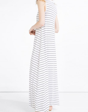photo Casual Summer Sleeveless Striped Pullover Maxi Dress by OASAP - Image 2