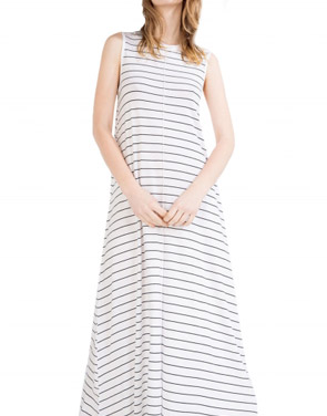 photo Casual Summer Sleeveless Striped Pullover Maxi Dress by OASAP - Image 1