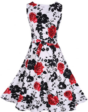 photo Charming Floral Printed Pleated Woman Dress by OASAP - Image 1