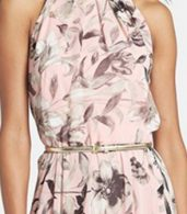 photo Charming Floral Printed Sleeveless Maxi Dress by OASAP, color Pink - Image 3