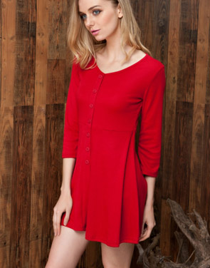 photo Chic Button Down Trapeze Dress by OASAP - Image 2