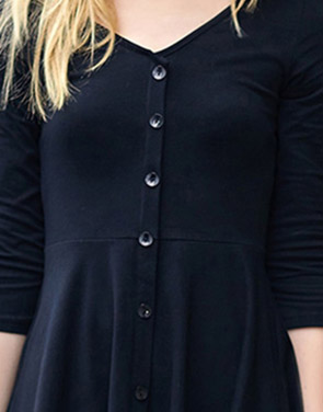 photo Chic Button Down Trapeze Dress by OASAP - Image 12