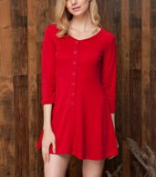 photo Chic Button Down Trapeze Dress by OASAP - Image 1