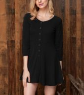 photo Chic Button Down Trapeze Dress by OASAP - Image 7