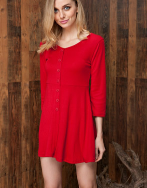 photo Chic Button Down Trapeze Dress by OASAP - Image 8