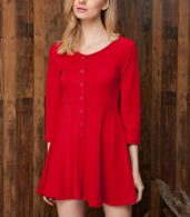 photo Chic Button Down Trapeze Dress by OASAP - Image 9