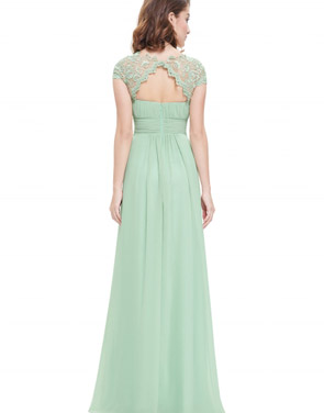 photo Chic Lace Paneled High Waist Scoop Back Maxi Dress by OASAP - Image 2