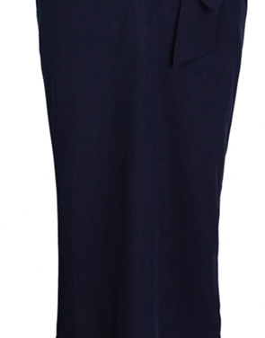 photo Chic Lantern Sleeve Belted Slim Fit Midi Dress by OASAP, color Deep Blue - Image 6
