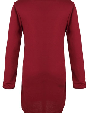 photo Chic Round Neck Stretch Knit Trapeze Dress by OASAP - Image 2