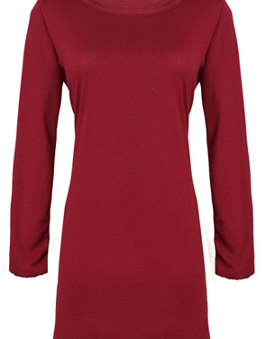 photo Chic Round Neck Stretch Knit Trapeze Dress by OASAP - Image 1