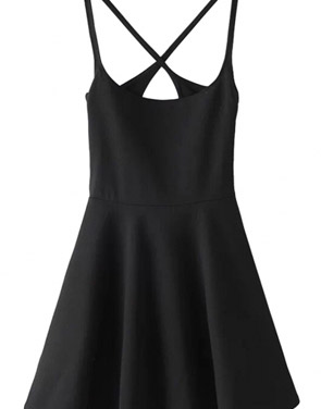 photo Chic Spaghetti Straps Backless Skater Dress by OASAP - Image 2