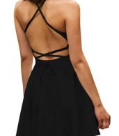 photo Chic Spaghetti Straps Backless Skater Dress by OASAP - Image 1