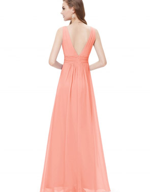 photo Chic V-Neck Scoop Back Sleeveless Maxi Dress by OASAP - Image 2