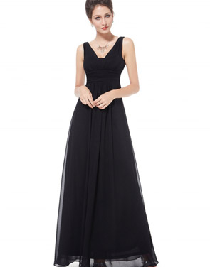 photo Chic V-Neck Scoop Back Sleeveless Maxi Dress by OASAP - Image 12