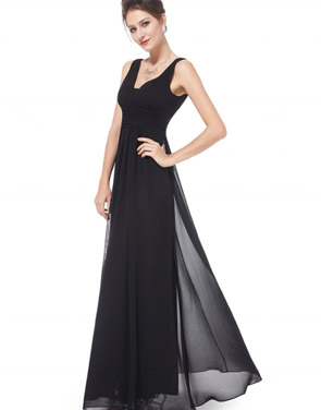 photo Chic V-Neck Scoop Back Sleeveless Maxi Dress by OASAP - Image 13