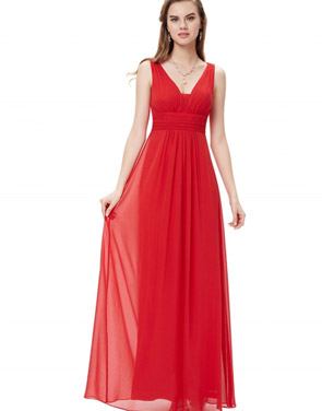 photo Chic V-Neck Scoop Back Sleeveless Maxi Dress by OASAP - Image 14