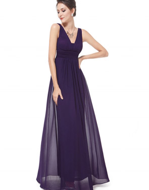 photo Chic V-Neck Scoop Back Sleeveless Maxi Dress by OASAP - Image 20