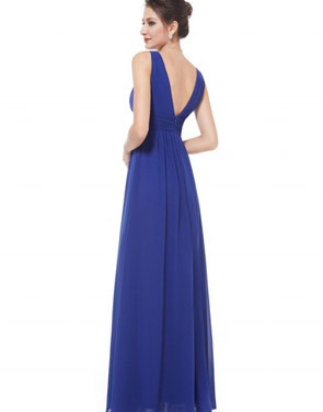 photo Chic V-Neck Scoop Back Sleeveless Maxi Dress by OASAP - Image 7