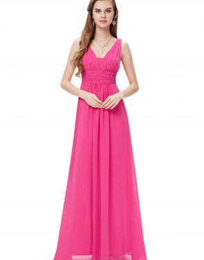 photo Chic V-Neck Scoop Back Sleeveless Maxi Dress by OASAP - Image 10