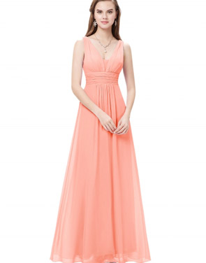 photo Chic V-Neck Scoop Back Sleeveless Maxi Dress by OASAP - Image 1