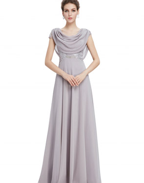 photo Cowl Neck Maxi Ball Gown Prom Evening Dress by OASAP - Image 2