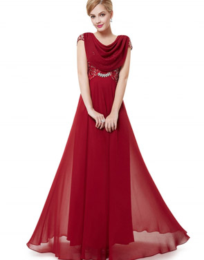 photo Cowl Neck Maxi Ball Gown Prom Evening Dress by OASAP - Image 11