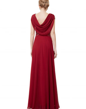 photo Cowl Neck Maxi Ball Gown Prom Evening Dress by OASAP - Image 12
