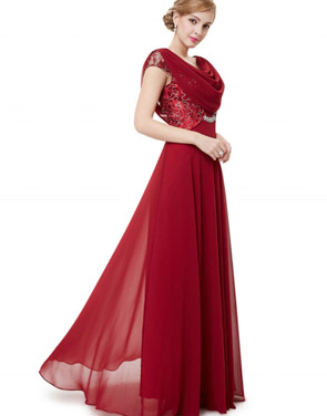 photo Cowl Neck Maxi Ball Gown Prom Evening Dress by OASAP - Image 13