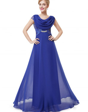 photo Cowl Neck Maxi Ball Gown Prom Evening Dress by OASAP - Image 14