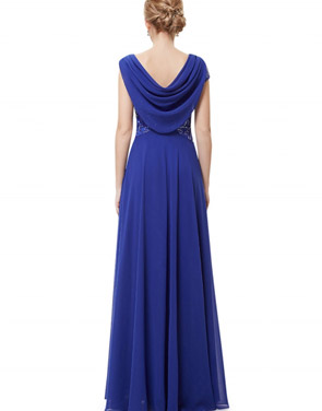 photo Cowl Neck Maxi Ball Gown Prom Evening Dress by OASAP - Image 15