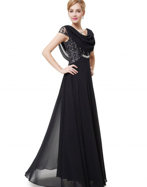 photo Cowl Neck Maxi Ball Gown Prom Evening Dress by OASAP - Image 17