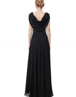 photo Cowl Neck Maxi Ball Gown Prom Evening Dress by OASAP - Image 18