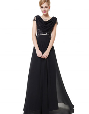 photo Cowl Neck Maxi Ball Gown Prom Evening Dress by OASAP - Image 19