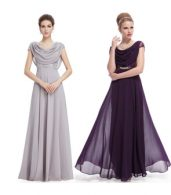 photo Cowl Neck Maxi Ball Gown Prom Evening Dress by OASAP - Image 20