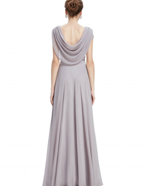 photo Cowl Neck Maxi Ball Gown Prom Evening Dress by OASAP - Image 3
